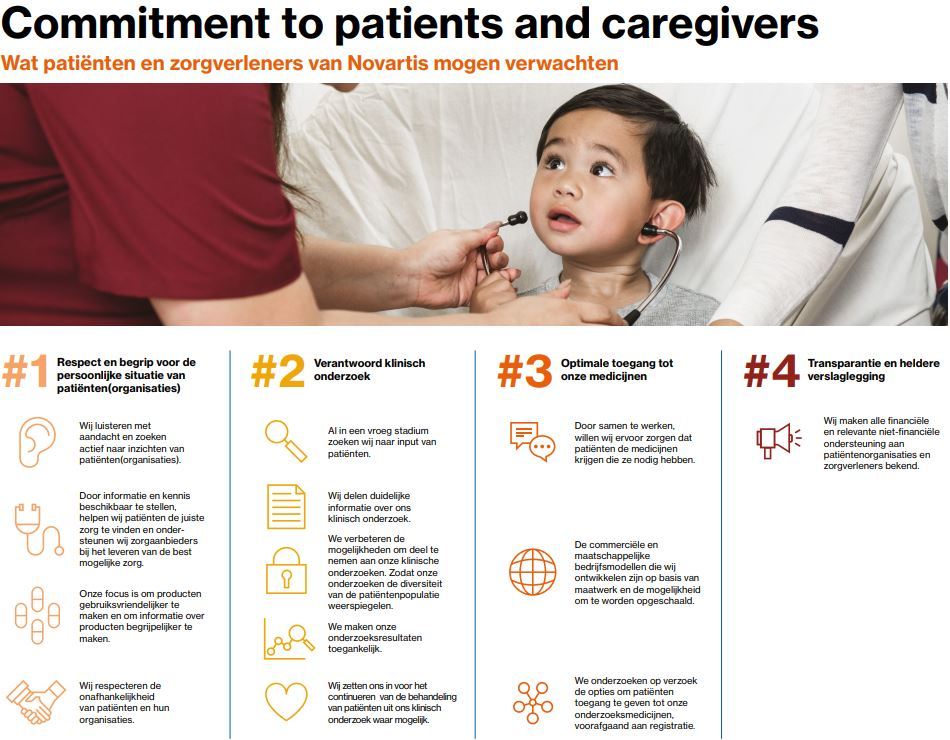 Commitment to Patients and Caregivers